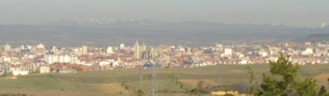 León desde el Alto del Portillo