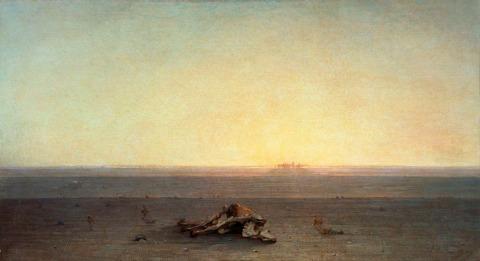 "Gustave Guillaumet - ""El desierto"" (1867, óleo sobre lienzo, 110 x 200 cm, Museo d'Orsay, París)"