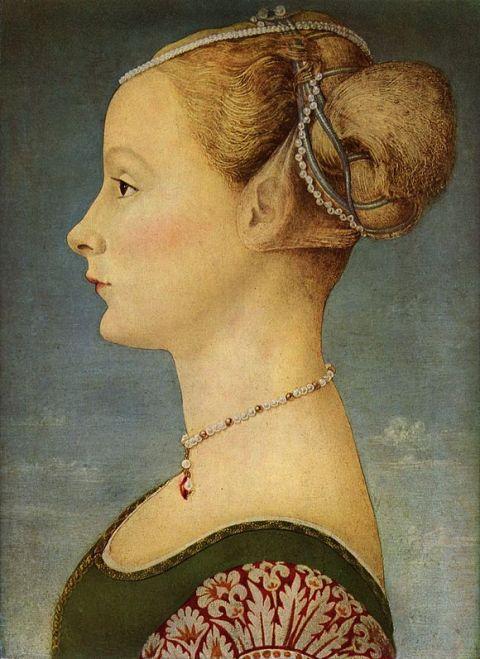 Ritratto di giovane donna (1470), de Antonio Pollaiolo