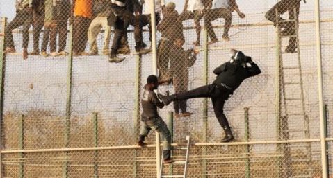 En las vallas de Melilla, 2014